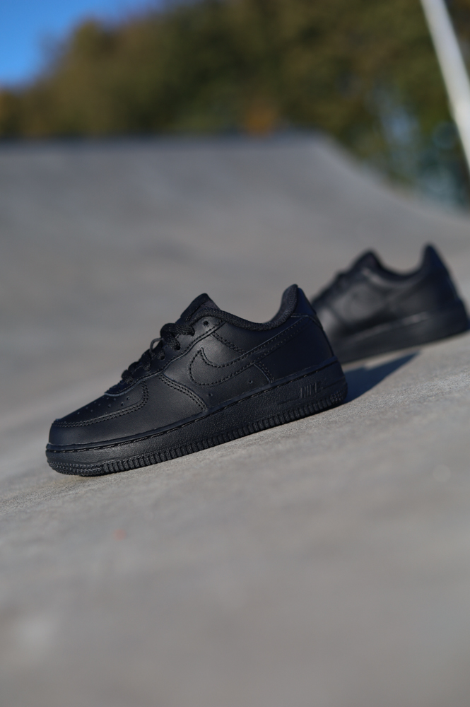 Nike air force 1 black PS Zwart