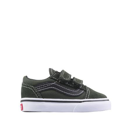 763a10f7df3aba Vans Old skool Dark Green TS - Groen